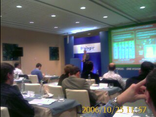 Microsoft's Cliff Didcock who handles Microsoft Exchange and Unified Communications Addresses the Crowd at Dialogic Connections 2006