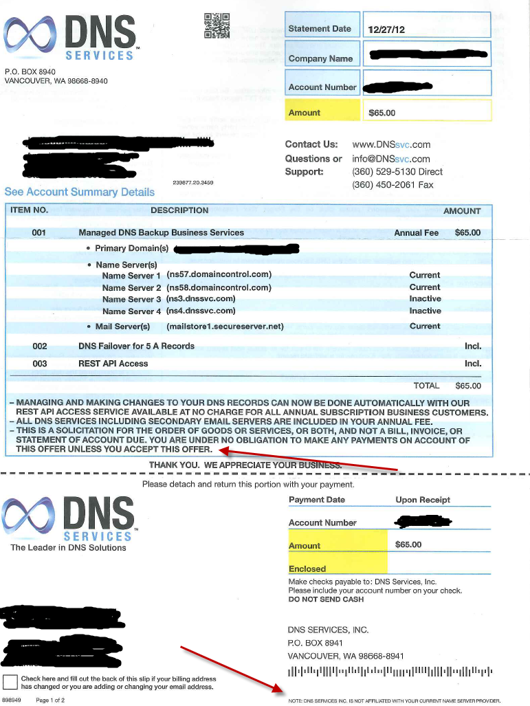 Backup DNS, The New Yellow Pages Scam – Tehrani com – Comm & Tech Blog