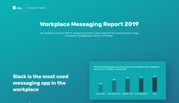 Slack is Winning Says Mio Workplace Messaging Report
