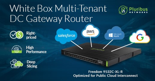 Pluribus Networks Launches White Box Multi-Tenant Data Center Gateway Router
