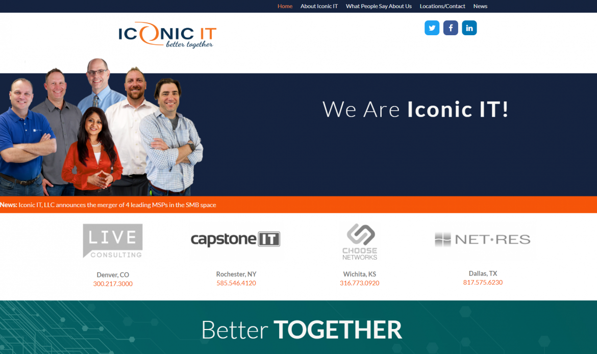 Iconic IT Merges 4 Leading SMB MSPs