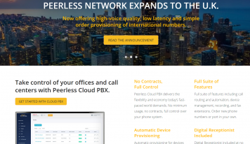 Peerless Network Cloud PBX Includes API, Enhanced Telecom Management