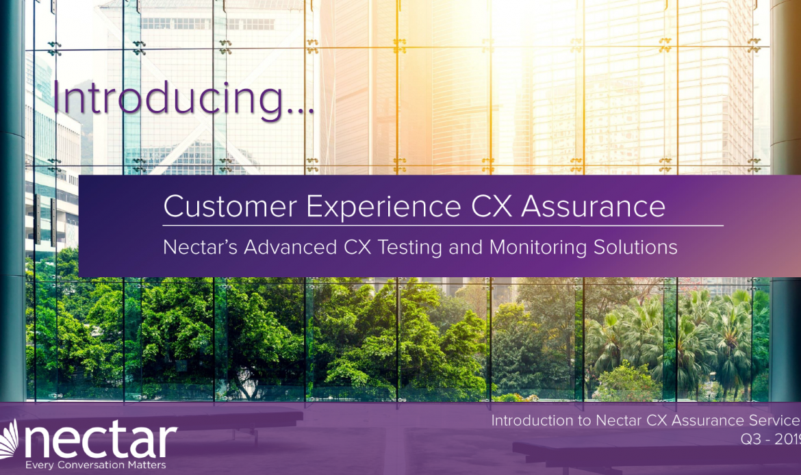 Nectar CX Assurance Melds with UC Monitoring For Complete Solution