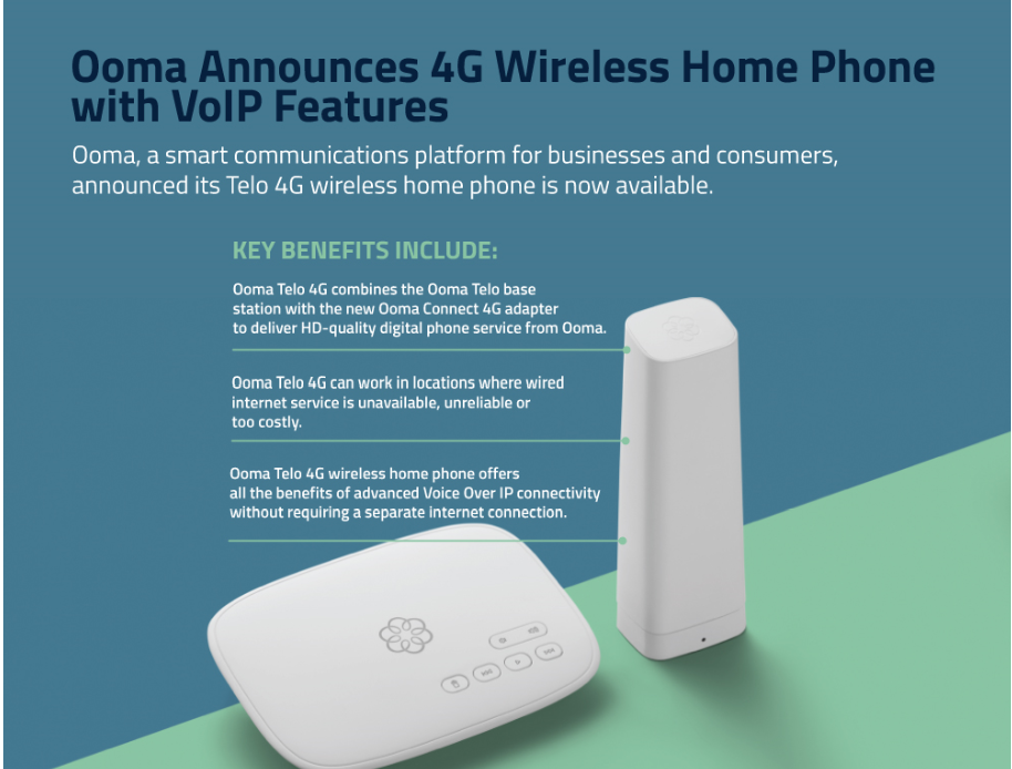 Ooma Launches 4G Wireless Home Phone with VoIP Features [Infographic]