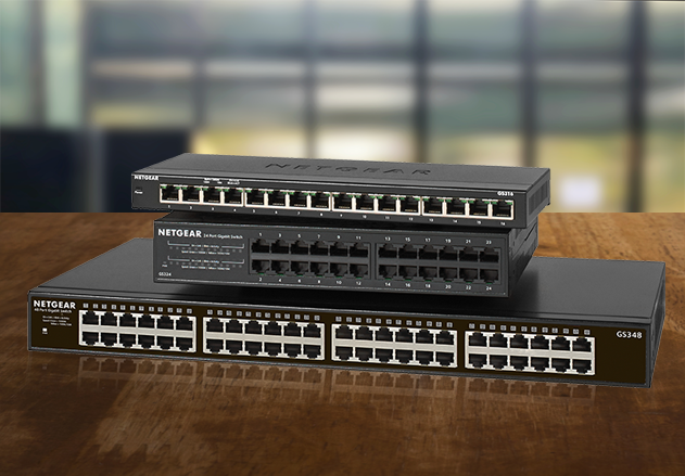 New NETGEAR 24-Port Gigabit Ethernet Unmanaged PoE+ Switches With Up to 380w Power Budget