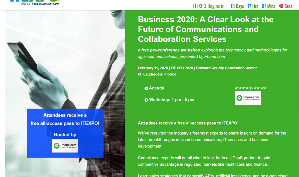 A Clear Look at the Future of Communications and Collaboration Services – Only at ITEXPO