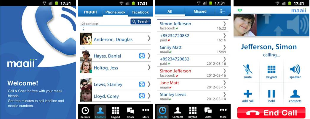 Maaii VoIP app Now on Android - Free Voice and Texts